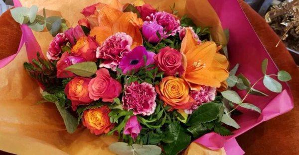 Bouquet rose et orange