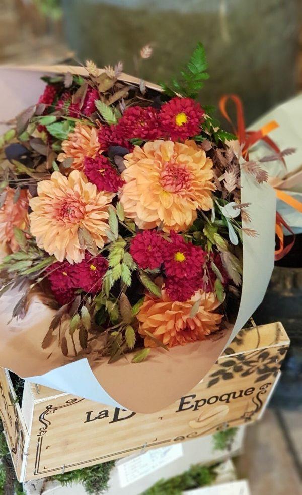 Bouquet rouge et orange