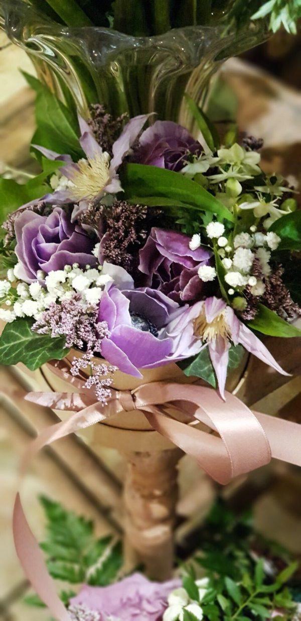 Boîte à chapeau violet